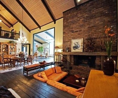 Brick-walled Fireplace