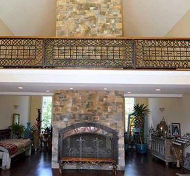 Luxury Two-Story Fireplace