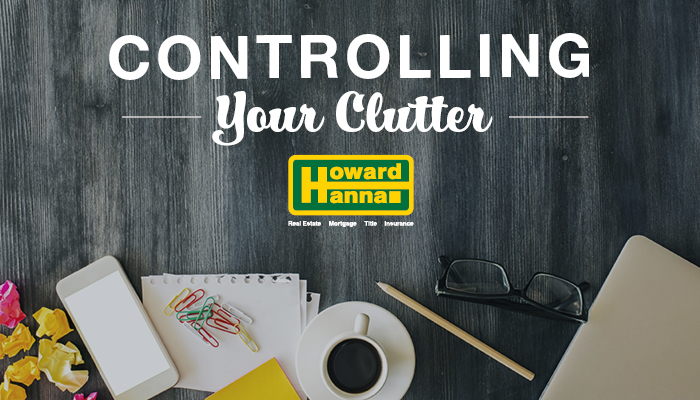 Title image for controlling your clutter blog