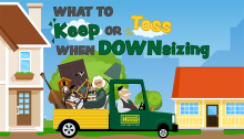 What to keep when downsizing