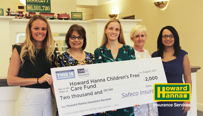 $2,000 Donation to the Children's Free Care Fund