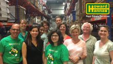 Cleveland Heights Office volunteers at a food bank