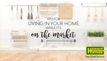 tips for selling your home while living in it