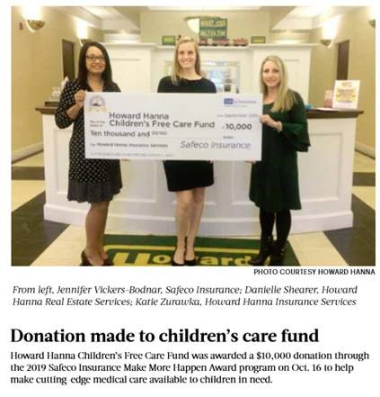 donation to howard hanna children's free care fund