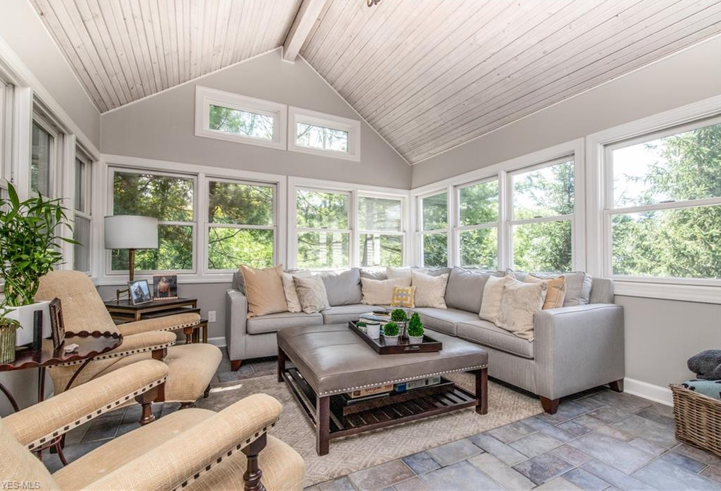 Howard Hanna Homes of Distinction sunroom and patio in Ohio house