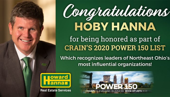 President of Howard Hanna Named in Power 150 List of Influential Leaders by Crain's Cleveland Business
